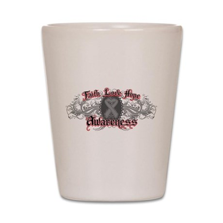 Brain Cancer Faith Shot Glass