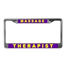Purple and Yellow License Plate Frame