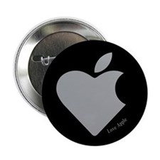 "Love Apple 2.25"" Button"