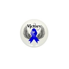 Victory Wings Colon Cancer Mini Button (100 pack)