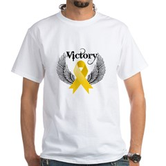 Victory Childhood Cancer White T-Shirt