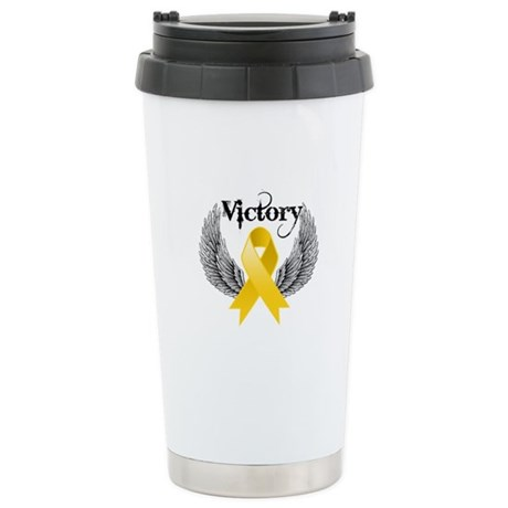 Victory Childhood Cancer Ceramic Travel Mug