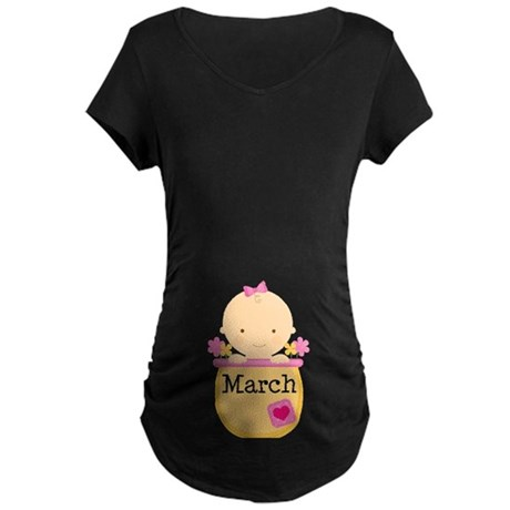 March Baby Maternity Dark T-Shirt