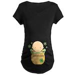 Christmas Baby Maternity Dark T-Shirt