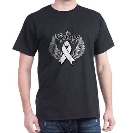 Victory Wings Bone Cancer Dark T-Shirt