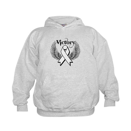Victory Wings Bone Cancer Kids Hoodie