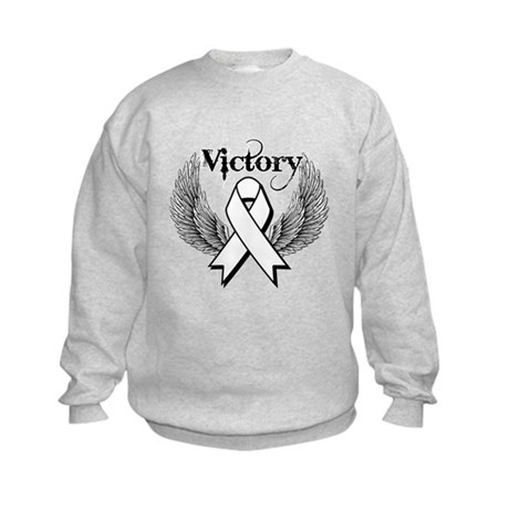 Victory Wings Bone Cancer Kids Sweatshirt