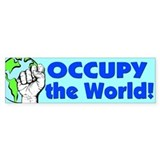 Unique Occupy the world Bumper Sticker