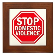 STOP Domestic Violence Framed Tile