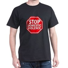STOP Domestic Violence Black T-Shirt
