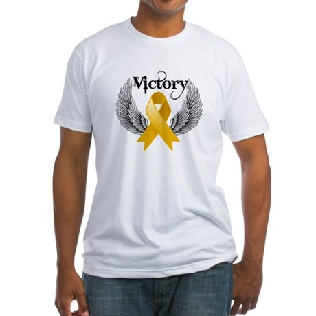 Warrior Appendix Cancer Fitted T-Shirt