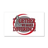 Brain Cancer Together We Can Car Magnet 20 x 12
