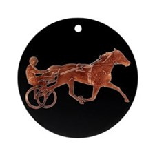 Brown Pacer Silhouette Ornament (Round)