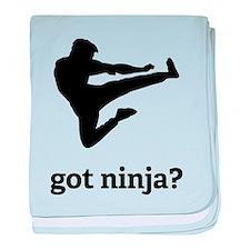 Got ninja? baby blanket
