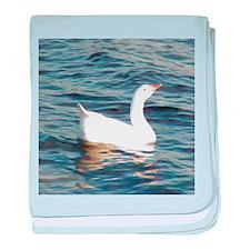 White Goose baby blanket