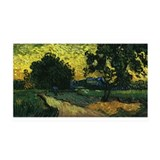 Van Gogh Trees Chateau Auvers 38.5 x 24.5 Wall Pee