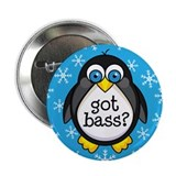 Bass Music Penguin 2.25&quot; Button