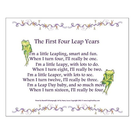 First Four Leap Years Small Poster
