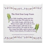 First Four Leap Years Tile Coaster