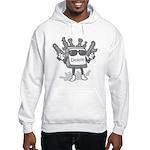 Delete Button Hooded Sweatshirt