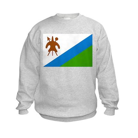 Flag of Lesotho Kids Sweatshirt