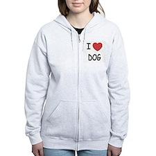 I heart dog Zip Hoodie