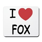 I heart fox Mousepad