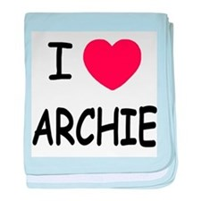 I heart archie baby blanket