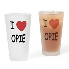 I heart opie Drinking Glass