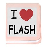 I heart flash baby blanket
