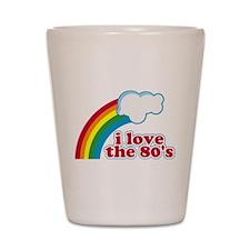 I Love The 80's Shot Glass