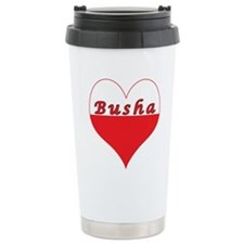 Busha Polish Heart Ceramic Travel Mug