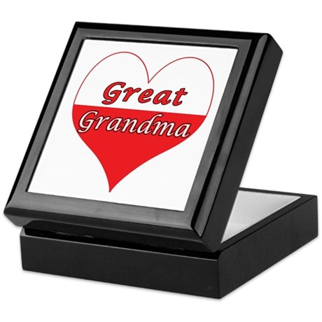 Great Grandma Polish Heart Keepsake Box