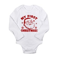 My First Christmas Long Sleeve Infant Bodysuit