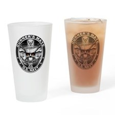 USN Gunners Mate GM Skull Don Drinking Glass