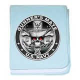 USN Gunners Mate GM Skull Don baby blanket