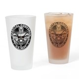 USN Hospital Corpsman Skull H Drinking Glass