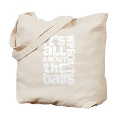About the Balls White Tote Bag