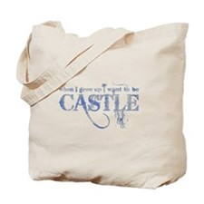Castle Gray Blue on Tote Bag