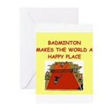 badminton Greeting Cards (Pk of 10)