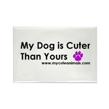 Cute Love your dog Rectangle Magnet