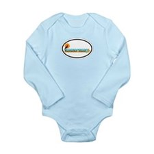 Nantucket MA - Oval Design Long Sleeve Infant Body