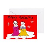 Lesbian christmas card Greeting Cards (10 Pack)