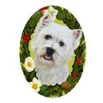 West Highland White Terrier Ornament (Oval)