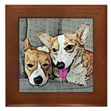 Corgi Art Framed Tile