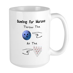 Bowling For Morons Large Mug