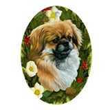 Tibetan Spaniel Ornament (Oval)
