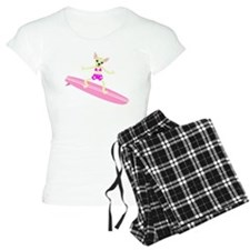 Chihuahua Surfer Girl Pajamas