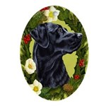 Labrador Retriever (black) Ornament (Oval)
