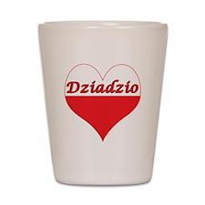 Dziadzio Polish Heart Shot Glass